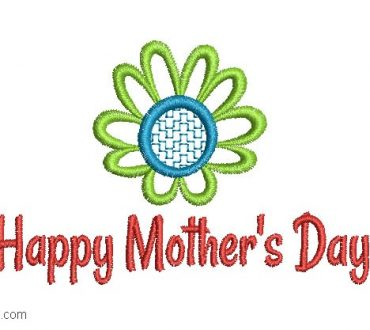 Embroidery designs of Happy day Mom