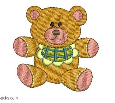 Embroidery of Bears for babies