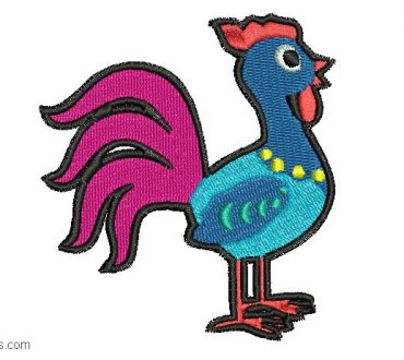 Embroidery of Rooster for Embroidery