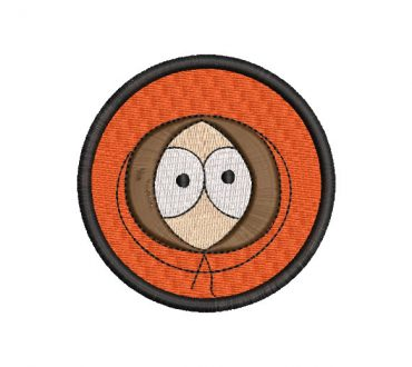 Face of South Park Embroidery Designs
