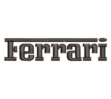 Ferrari logo letters Embroidery Designs