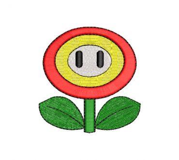 Fire Flower Super Mario Bros Embroidery Designs