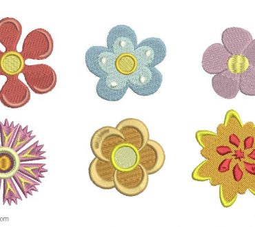 Flower Embroidery Design 1