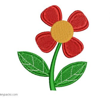 Embroidery Flower Design for Free Border