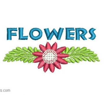 Flower Embroidery Design 3