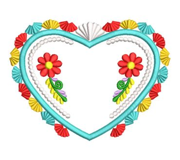 Flower Heart Embroidery Designs