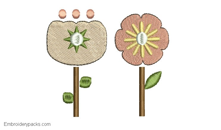 Flower embroidery 3