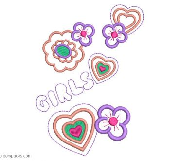 Flower embroidery for Girls