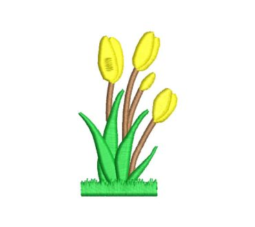 Flowers Tulips Embroidery Designs