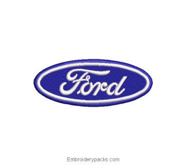 Ford logo embroidery design