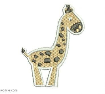 Giraffe embroidery for children