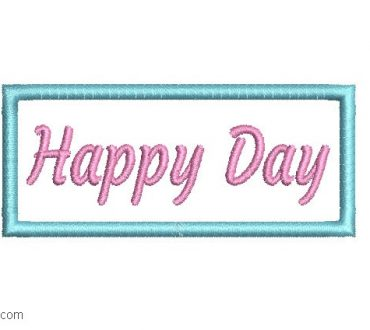 Happy Day Embroidery