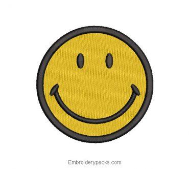 Happy Emoji Embroidery Design