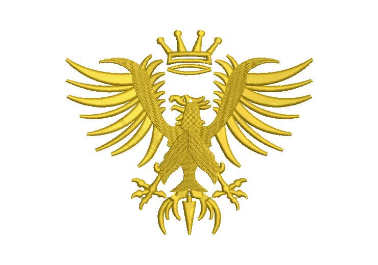 Heraldic Eagle Embroidery Designs