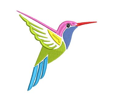 Hummingbird Colored Hummingbird Embroidery Designs