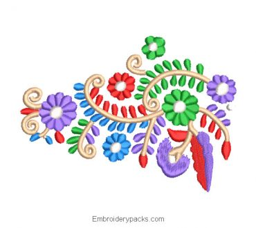 Hungarian Flower Embroidery Design