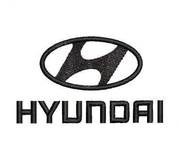 Hyundai logo Embroidery Design