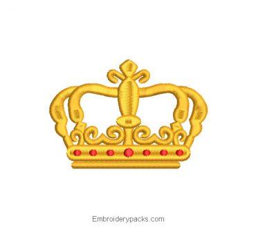 King Crown Machine Embroidered Design