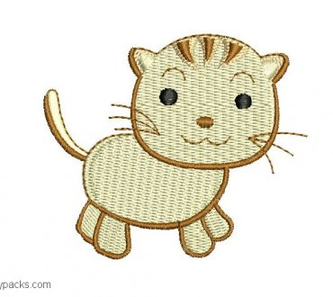 Kitty Embroidery Design 1
