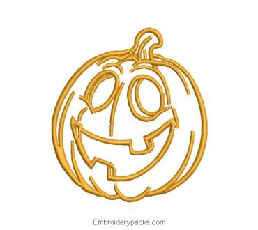 Linial pumpkin embroidery for halloween