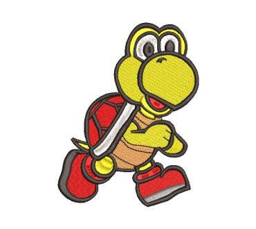Mario Bros Turtle Embroidery Design