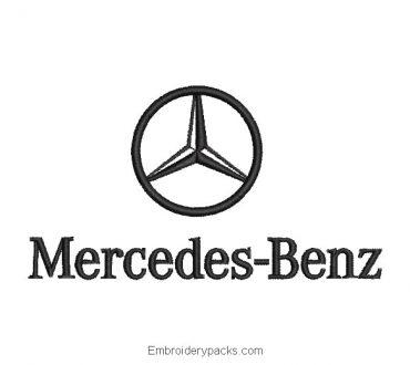 Mercedes-Benz logo embroidery design