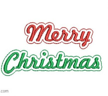 Merry Christmas Letter Embroidery