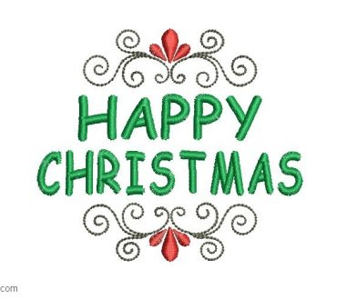 Merry Christmas embroidery designs with decoration
