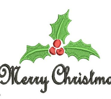 Merry Christmas letter design for Border