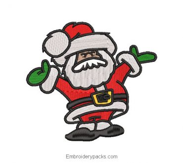 Merry santa claus embroidery design