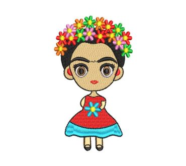 Mexican Frida Kahlo Doll Embroidery Designs