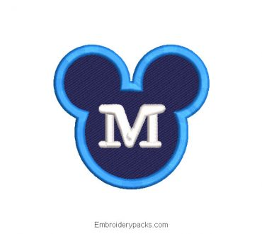 Mickey Mouse Logo Embroidered Design
