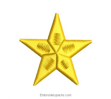 Mini Star Embroidered Design
