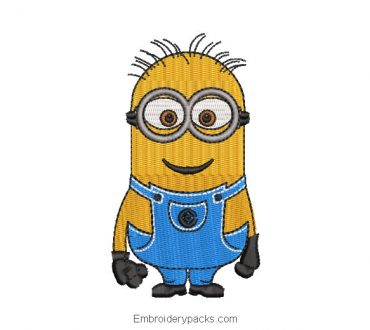 Minions character embroidered design