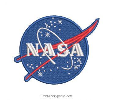 NASA Shield Logo Embroidery Design
