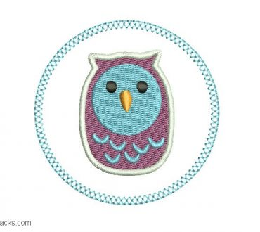 Owl embroidery designs for embroidery 1