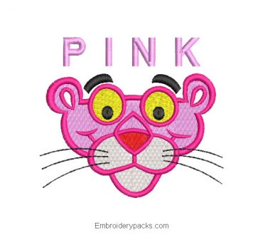 Pink Panther Machine Embroidery Design