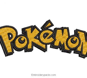 Pokemon letter embroidery design