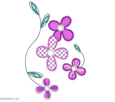 Pretty Design Flower Embroidery