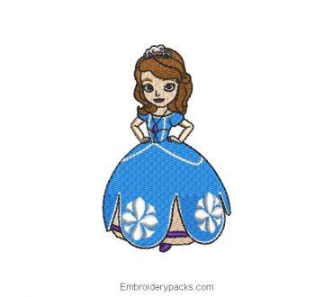 Princess Sofia Machine Embroidery Design