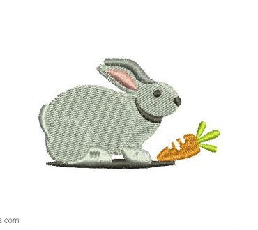 Rabbit Embroidery Design 1