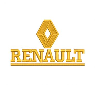 Renault Logo Embroidery Designs
