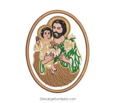 Saint Joseph Embroidery Design