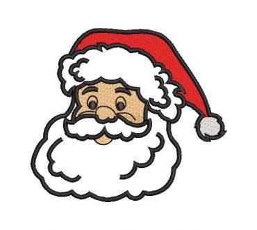 Santa Claus Face Embroidery Designs
