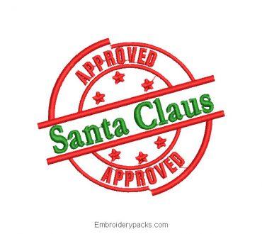 Santa Claus Shield Embroidered Design