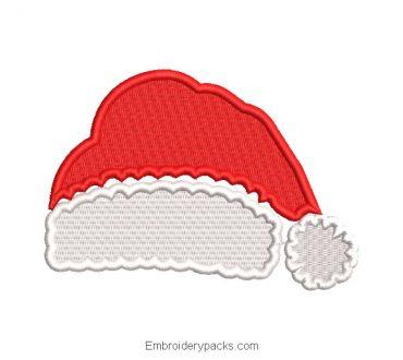 Santa Claus cap embroidery design
