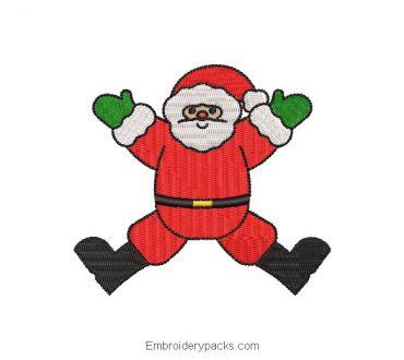 Santa Claus doll embroidery design