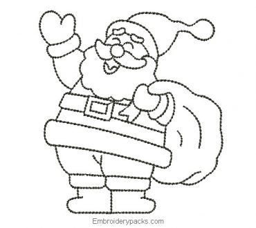 Santa Claus embroidery delineated for machine