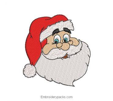 Santa Claus face machine embroidery design