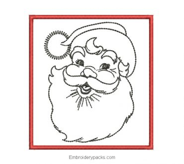 Santa claus picture embroidery design